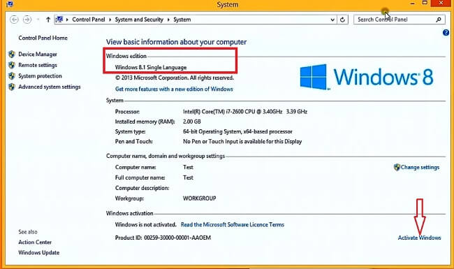 Windows 8.1 Pro Activation Through Serial Keys ISO Download Free Full Version